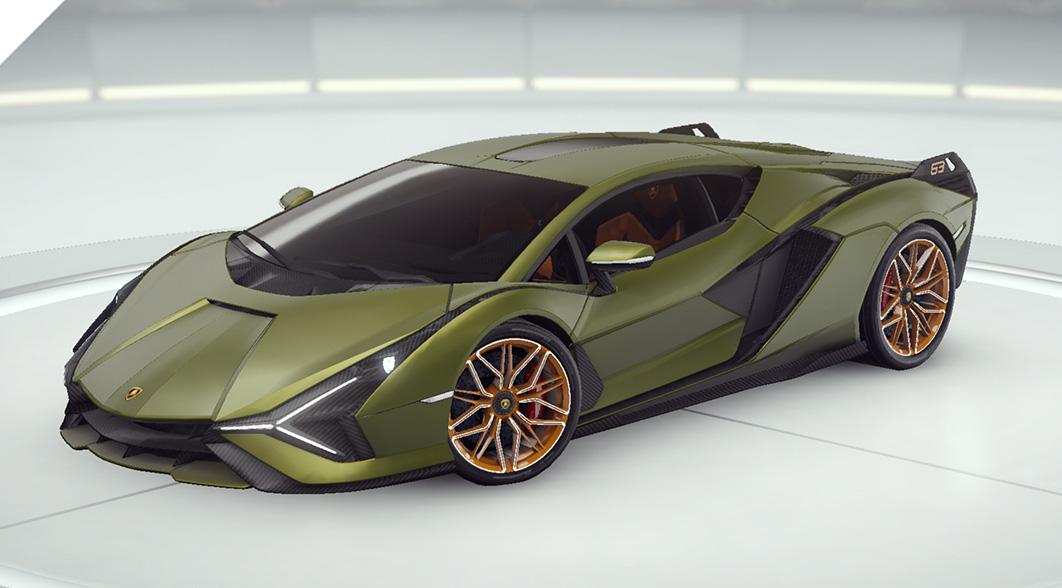 الأسفلت 9 Lamborghini Sian FKP 37