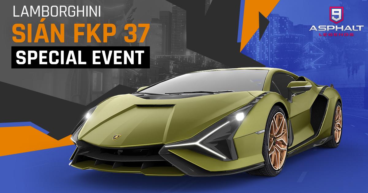Asphalt 9 Lamborghini Sian FKP 37 Special Event