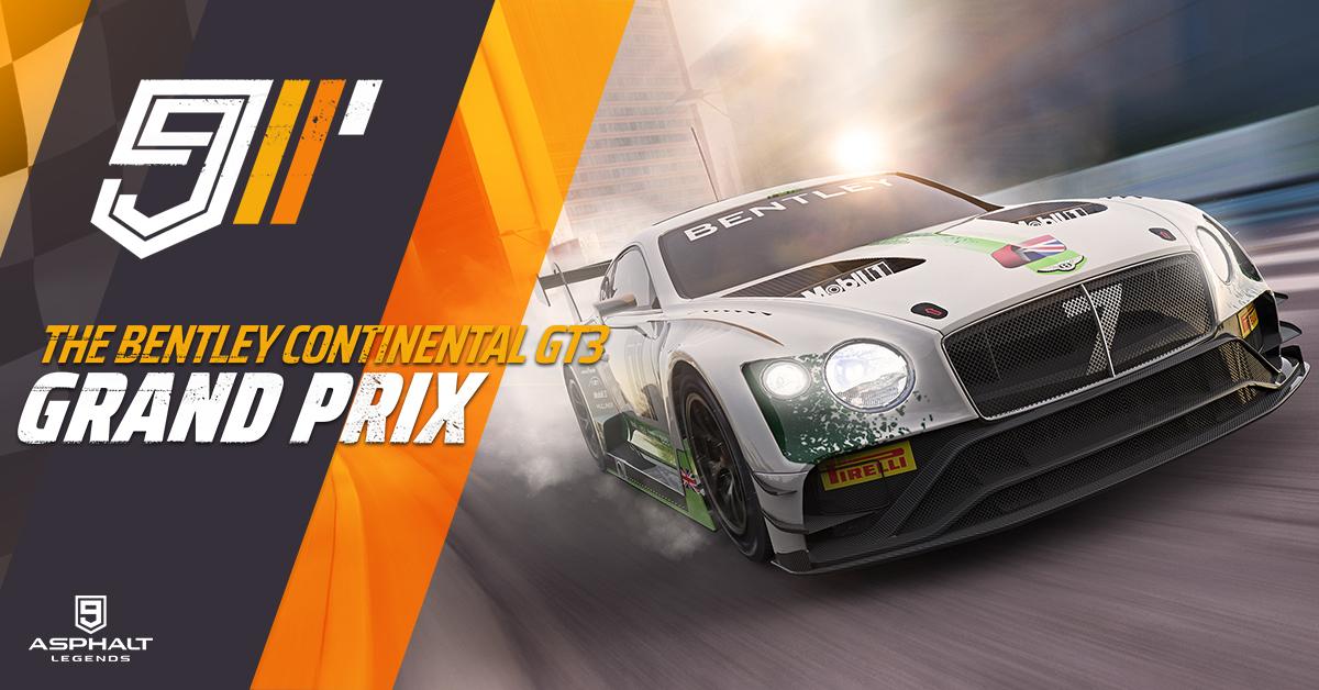 Asphalt 9 Bentley Continental GT3 Grand Prix