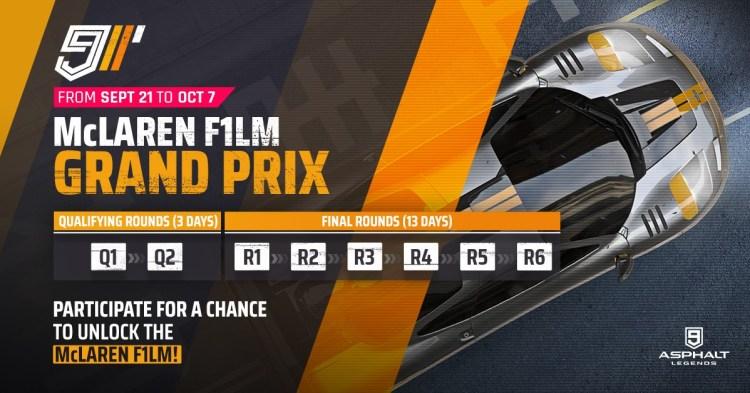 Asphalte 9 McLaren Grand Prix F1 LM