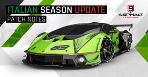 Asphalt 9 Update 18 Saison italienne