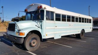 The bus needs a wash