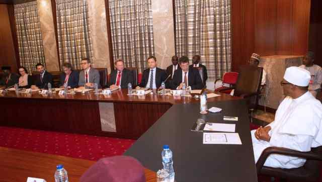 President Muhammadu Buhari with EU Reps
