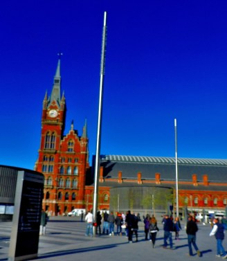 A side view of St Pancras, taken while Callum was arranging a meeting point with his girlfriend