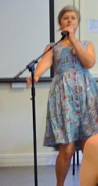Nicola at the mic