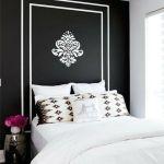 Sort Hvid Indretning Med Sovevaerelse Farve Nogler Paintonline Info