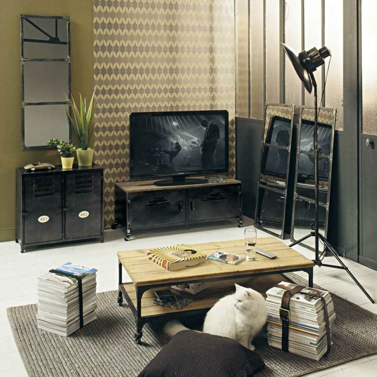 the industrial tv cabinet
