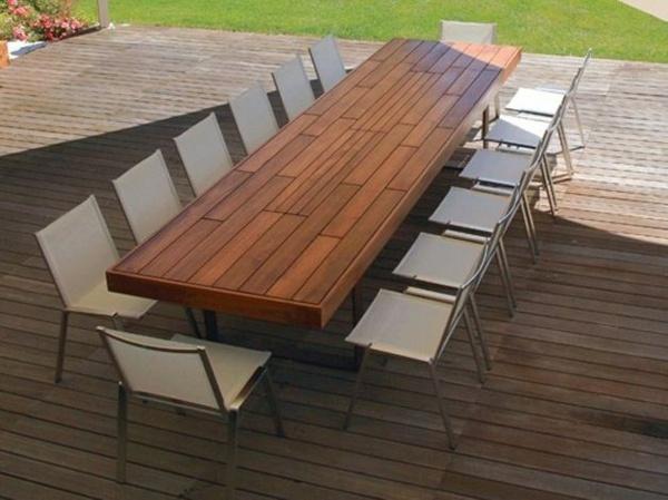 teak garden table 40 modern design