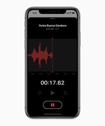 Apple iOS12, Voice Memos, Screenshot | Aspioneer