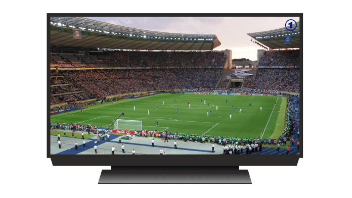 A picture of a TV with a football match on it | Aspioneer