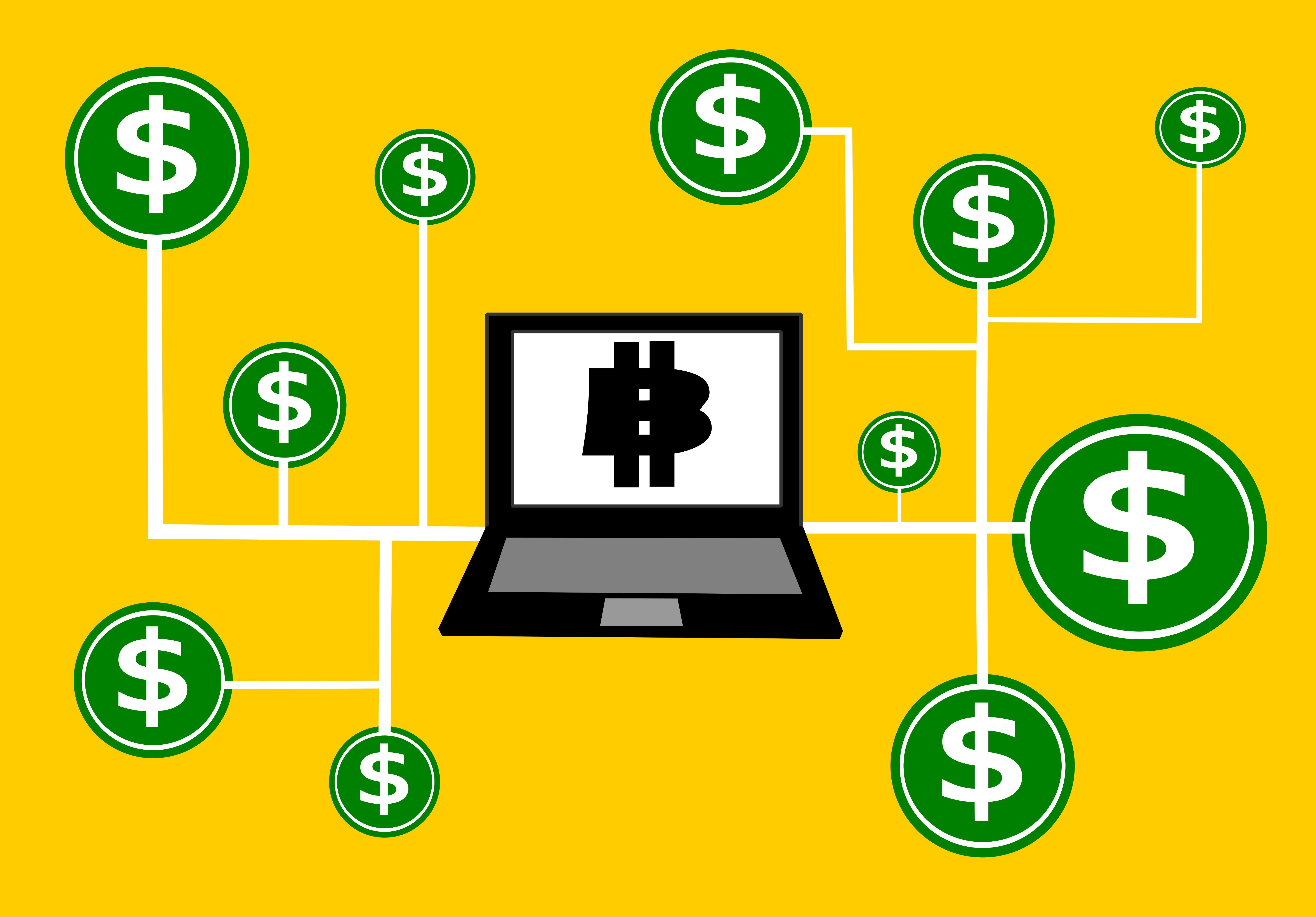 Bitcoin and Dollar signs all over