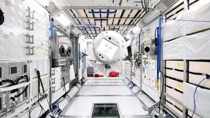 CIMON floating aboard the ISS | Aspioneer