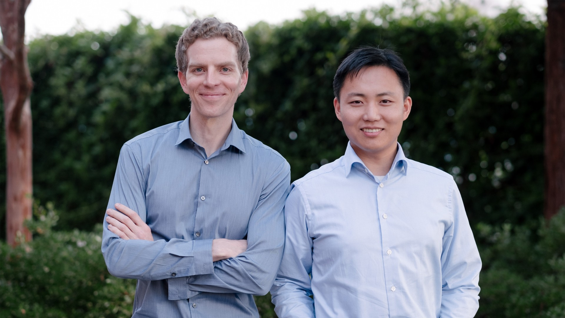 Nuro Founders Dave Ferguson and Jiajun Zhu.