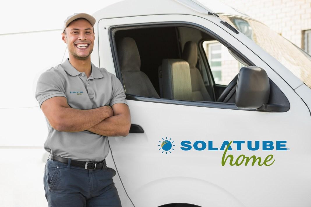 Solatube Home guy next to truck