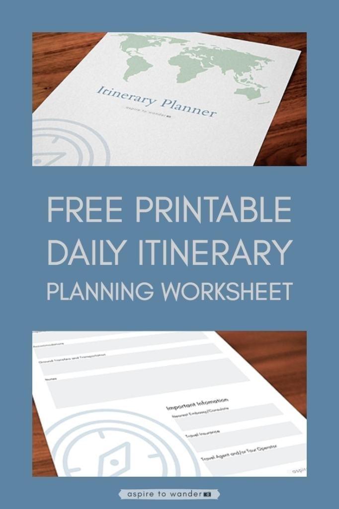 free printable  organize your travel with this daily