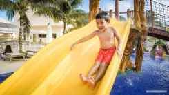 Waterslides and splash pad at the Royalton Riviera Cancun Resort and Spa