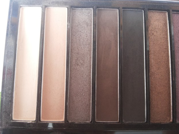 Hot smoked palette shades 1 to 6 (L to R)
