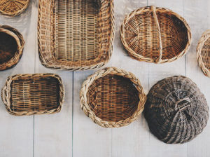 Smart Methods of Using Baskets As Home D    cor   Aspiring     Purchase an oblong or rectangle basket and place all your menus in it  The  next time you re in the mood for takeout  you ll know where to look