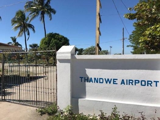 Thandwe baggage collection.