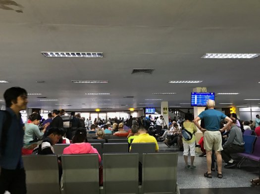 Yangon Domestic Terminal departures lounge