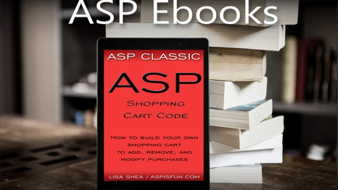 ASP Shopping Code Ebook