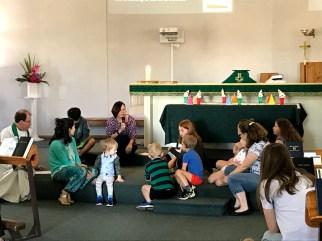 Children's message during worship