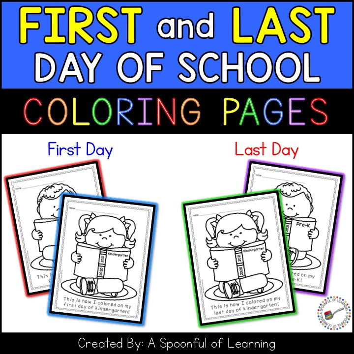 - First And Last Day Of School Coloring Pages - A Spoonful Of Learning
