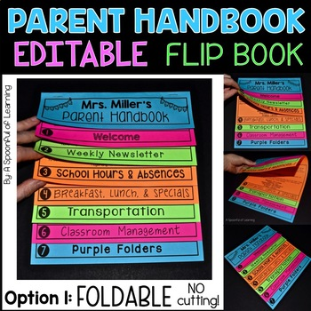 Foldable Parent Handbook Flipbook is here