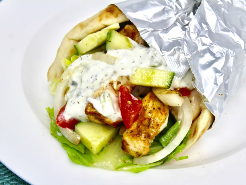Chicken Souvlaki in a Pita