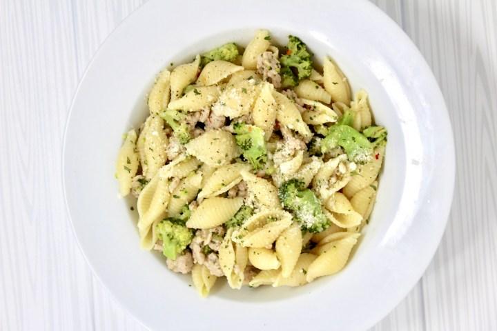 Stovetop Chicken Broccoli Parmesan Pasta