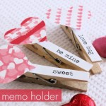 DIY Heart Memo Holder