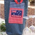 Recycled Denim Wine Tote {Australia Day Project}