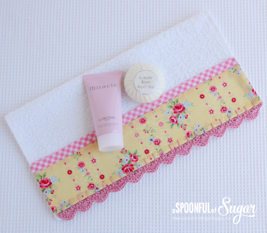 Face Washer With Crochet Trim A Spoonful Of Sugar
