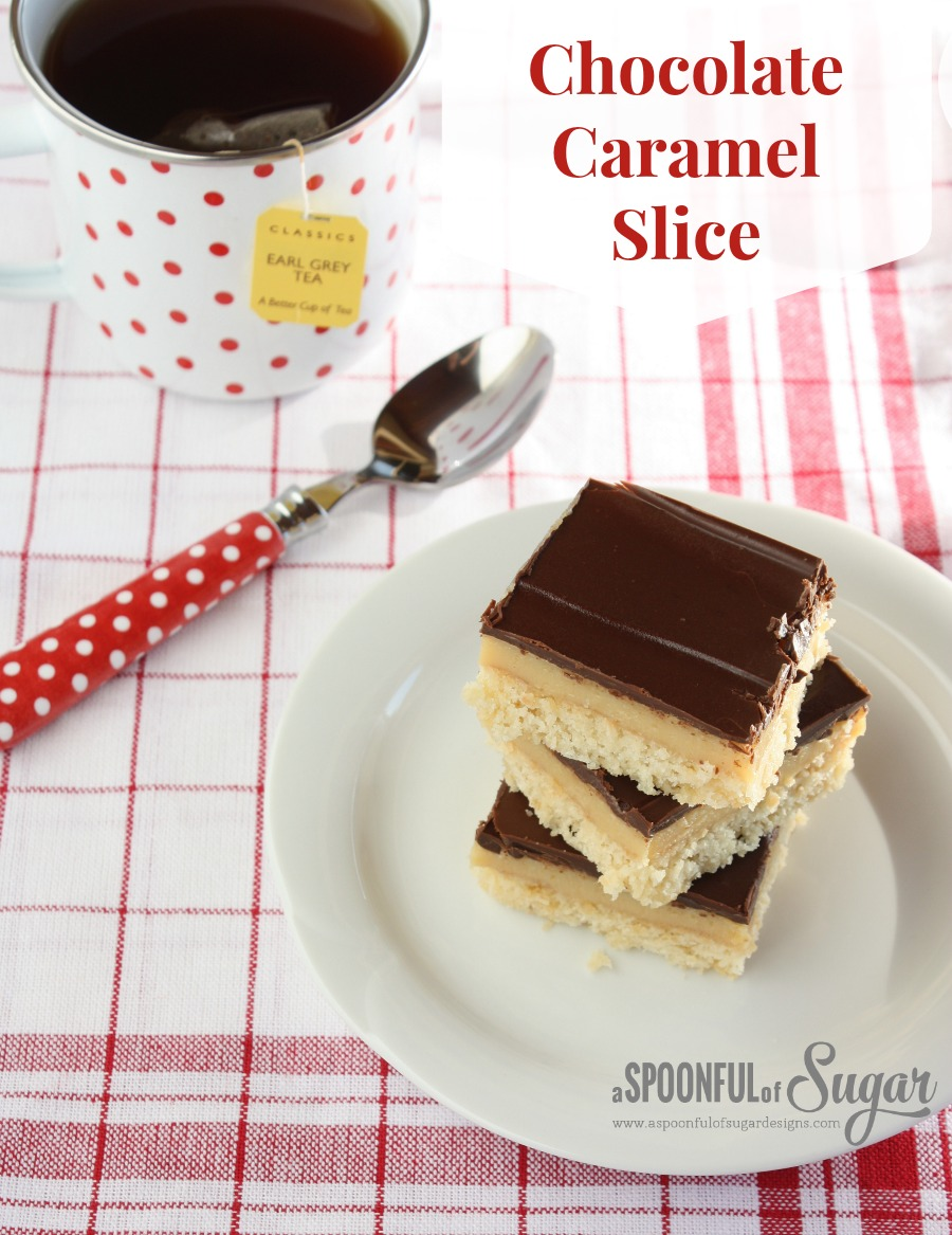 Chocolate Caramel Slice - A Spoonful of Sugar