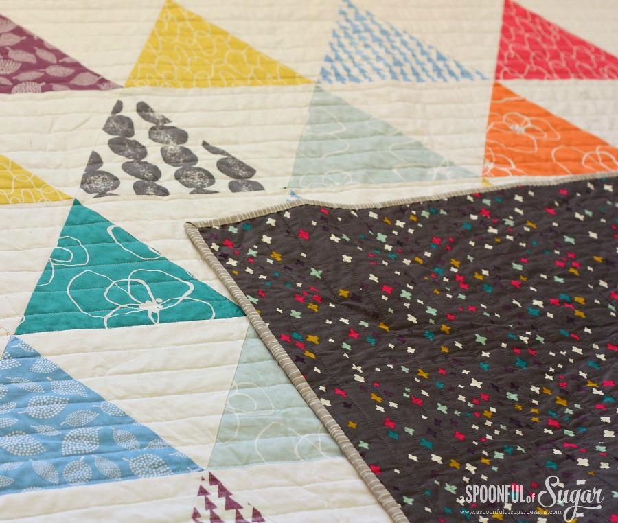 Closeup of Mormor Triangle Quilt