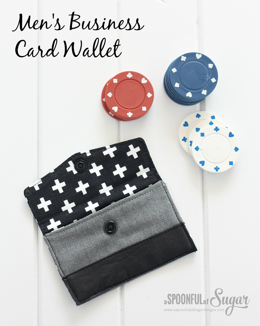 Men\'s Business Card Wallet - A Spoonful of Sugar