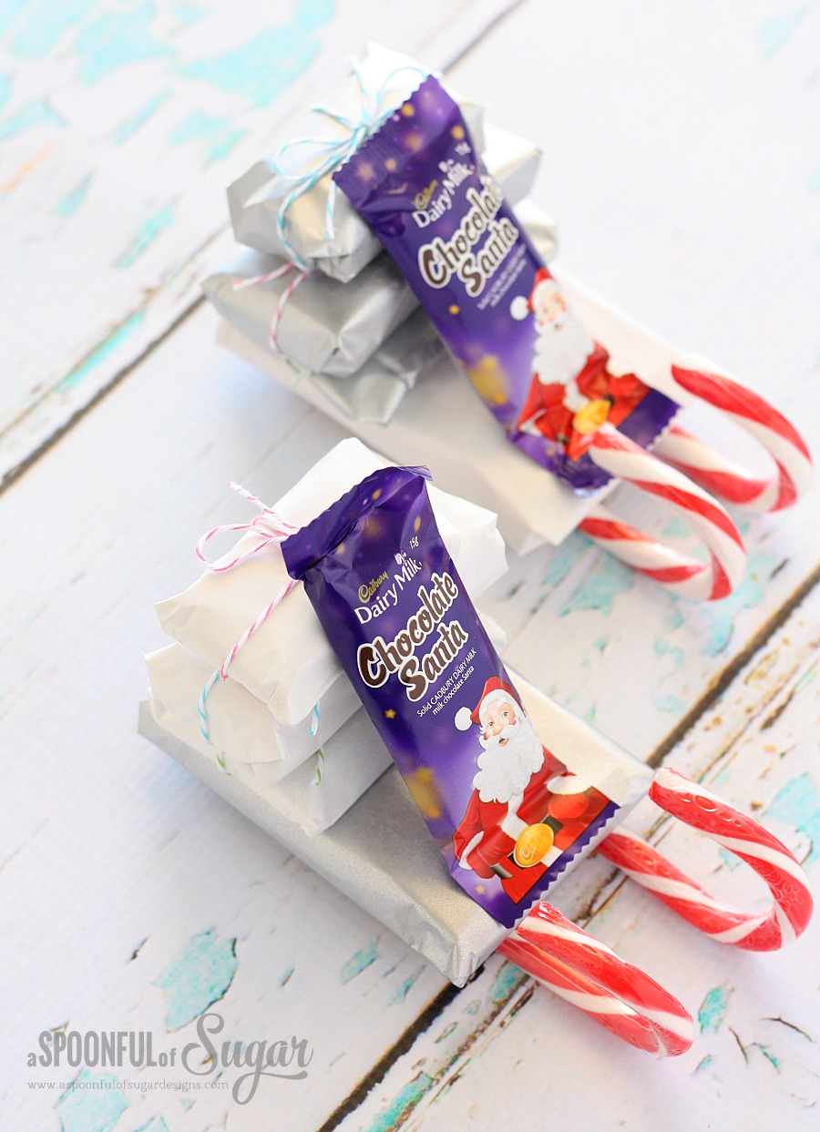Candy Cane Sleighs - A Spoonful of Sugar