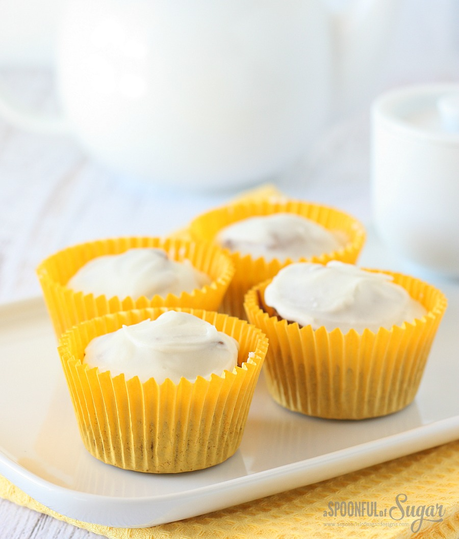 Carrot Cupcakes by A Spoonful of Sugar