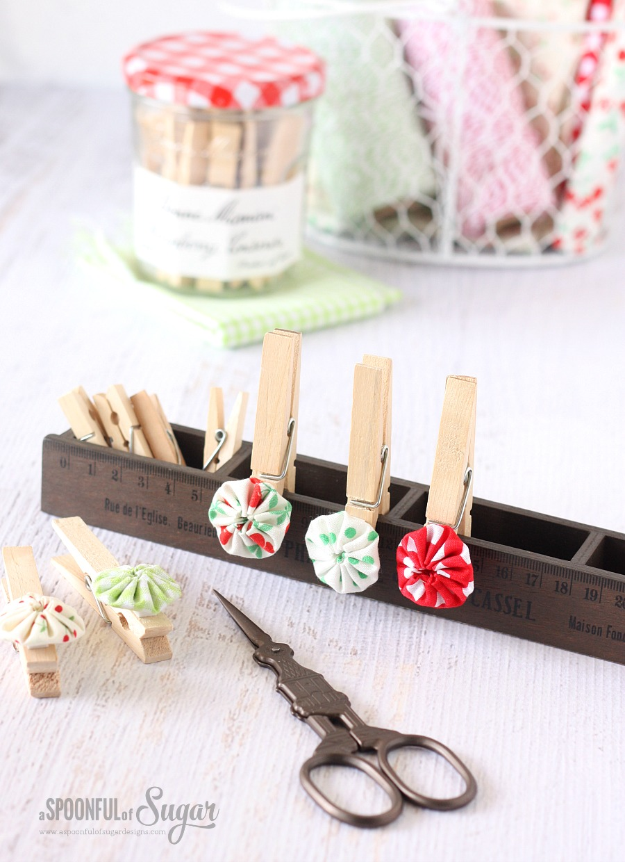 Mini Yoyo Pegs by A Spoonful of Sugar