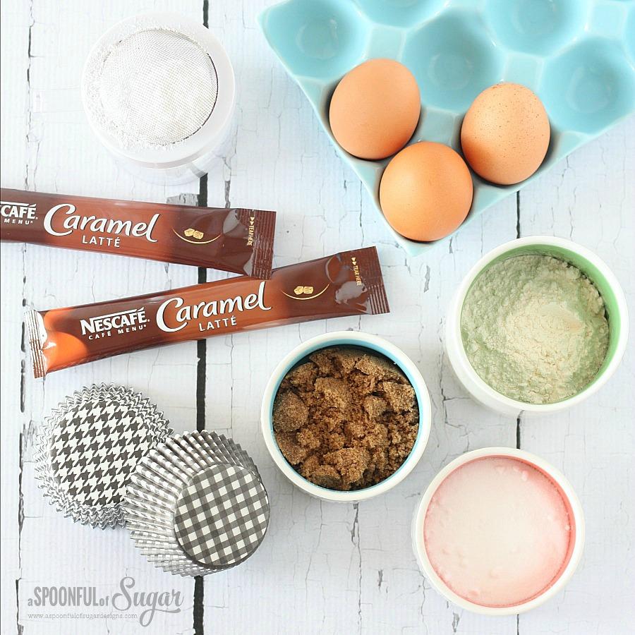 Nescafe Caramel Latte Cupcakes