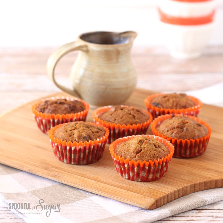 Carrot muffin recipe from A Spoonful of Sugar
