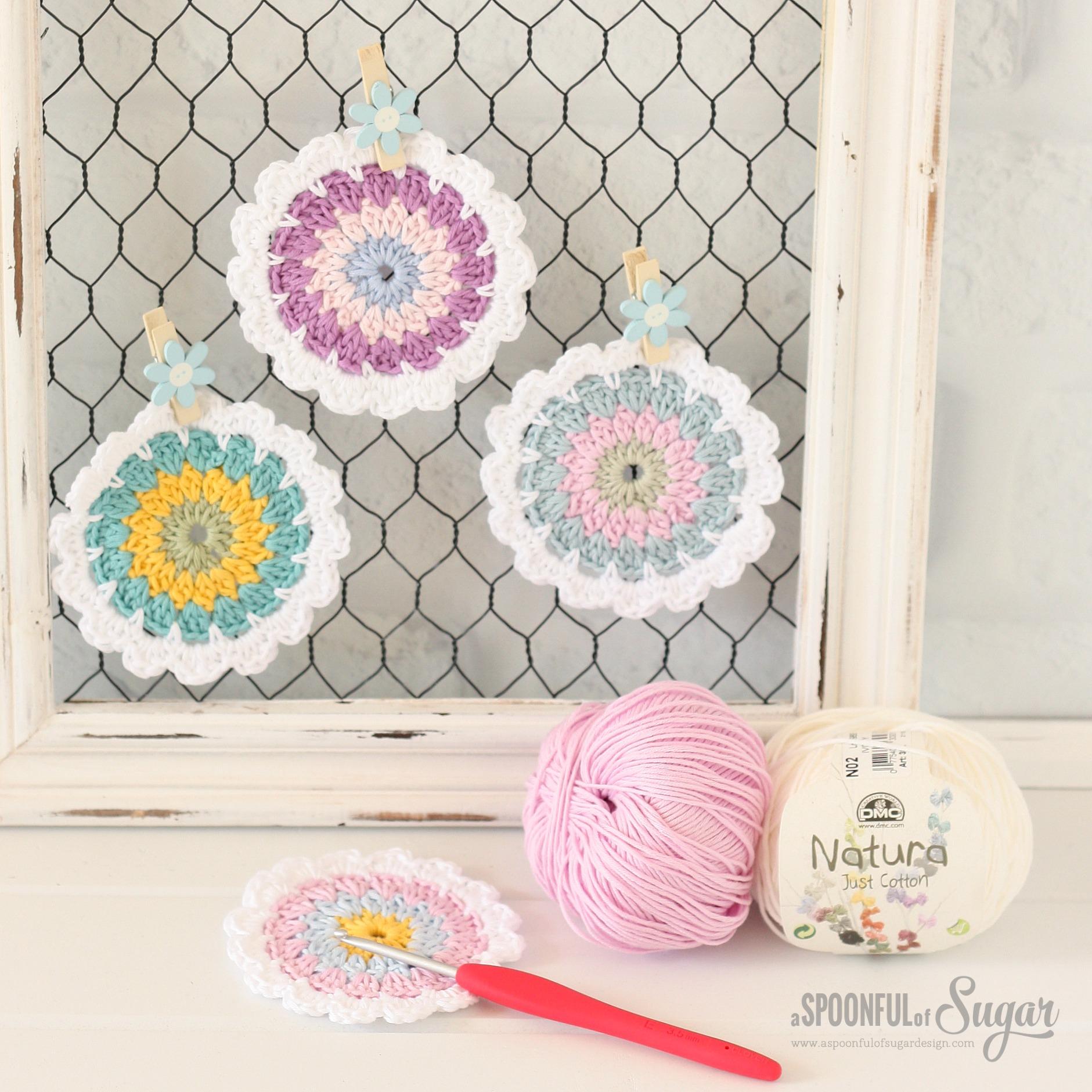 Flower Coaster Pattern - A Spoonful of Sugar