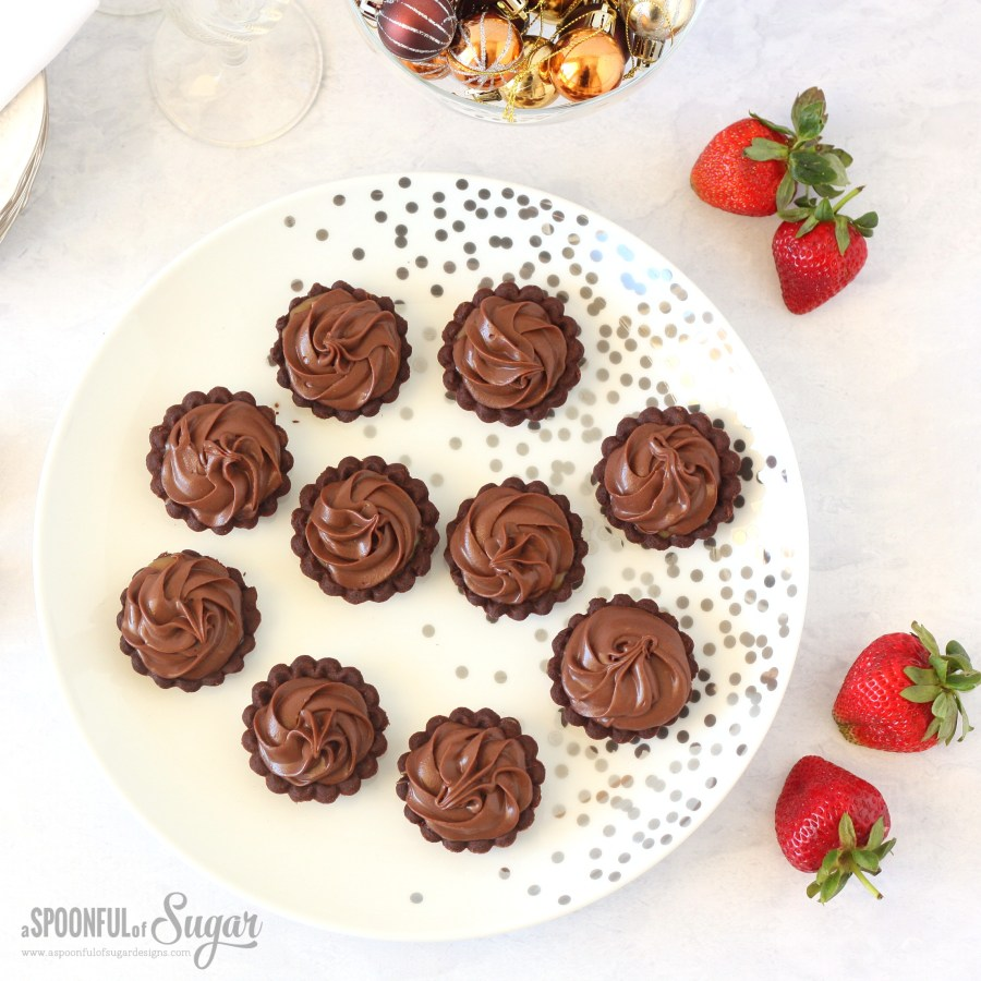 Chocolate and salted caramel tarts made with Anchor cream