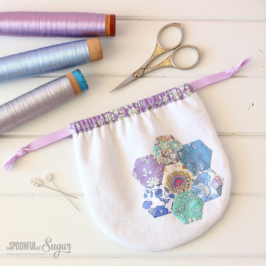 Pretty Liberty Drawstring Pouch by A Spoonful of Sugar