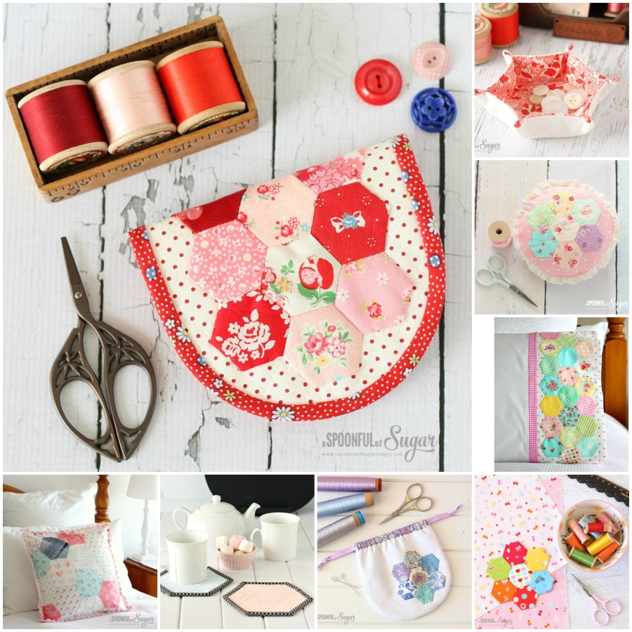 Round-up of Hexagon inspired sewing projects
