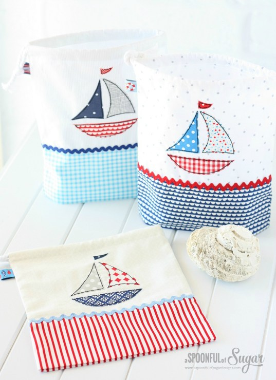 Nautical Treasure Bags from A Spoonful of Sugar by Lisa Cox