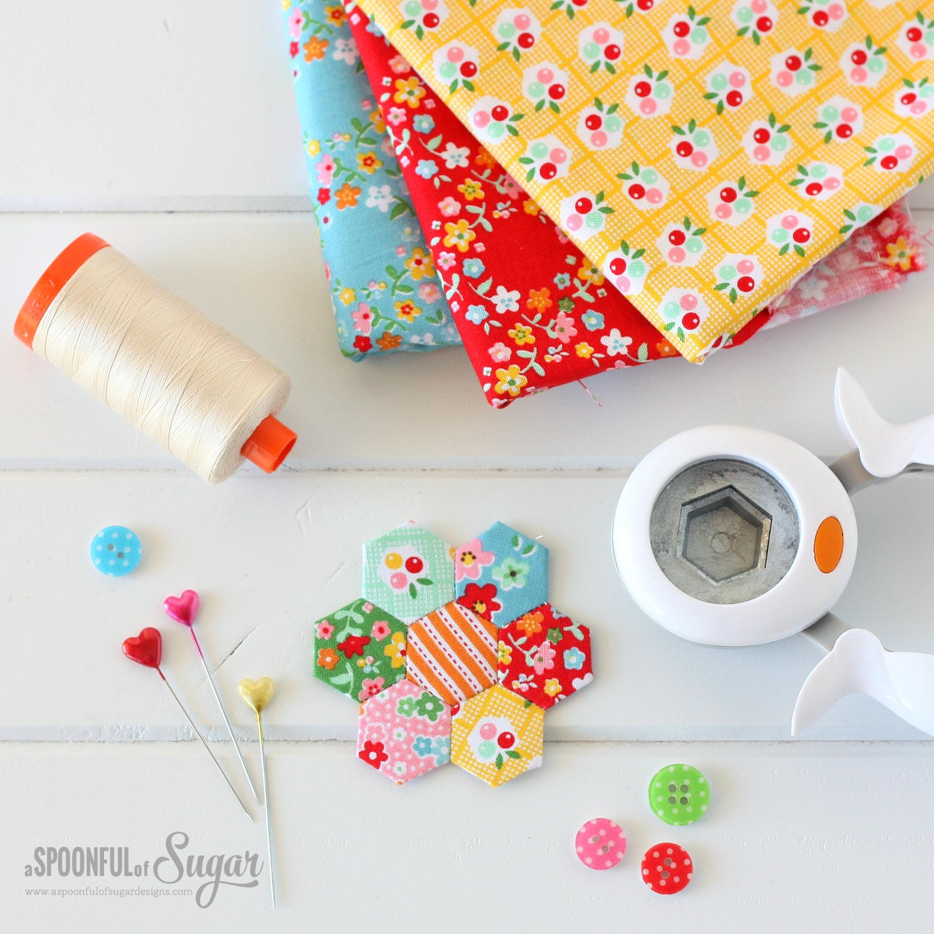 Hexie Pincushion {Free Sewing Tutorial} - A Spoonful of Sugar