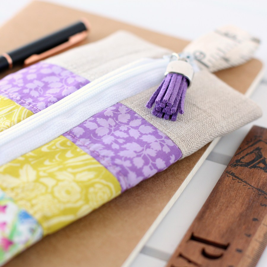 Liberty Pencil Case made using a free tutorial from A Spoonful of Sugar