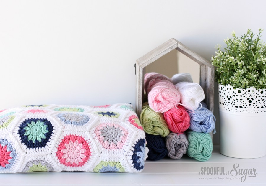 Hexie Love Actually crochet Blanket
