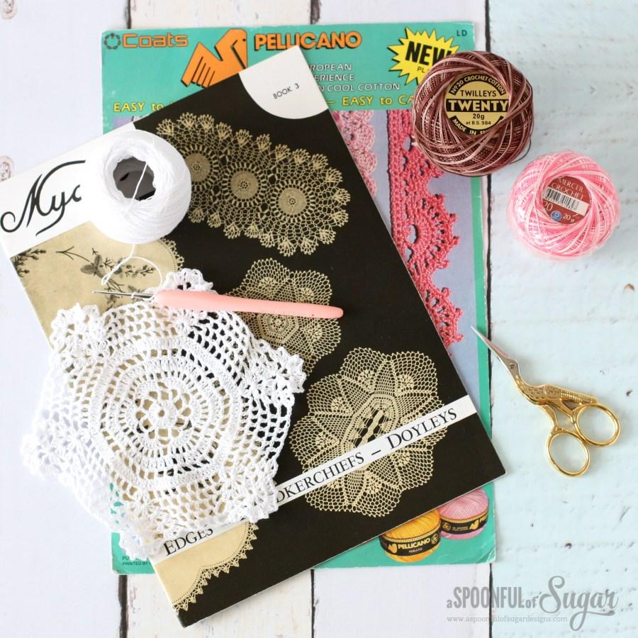 Vintage style crochet doiley